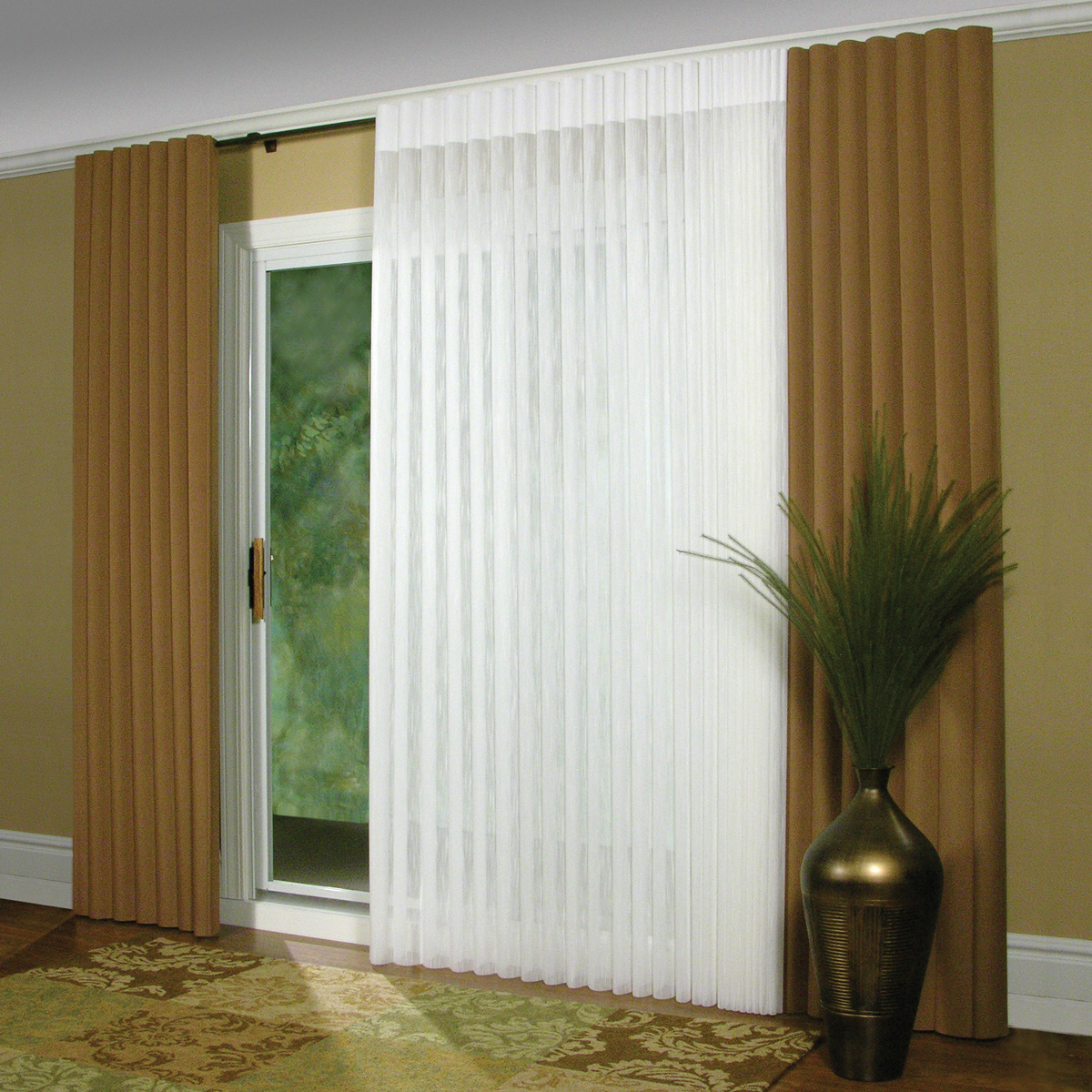 Sliding Glass Door Coverings: Affordable Blinds And Design