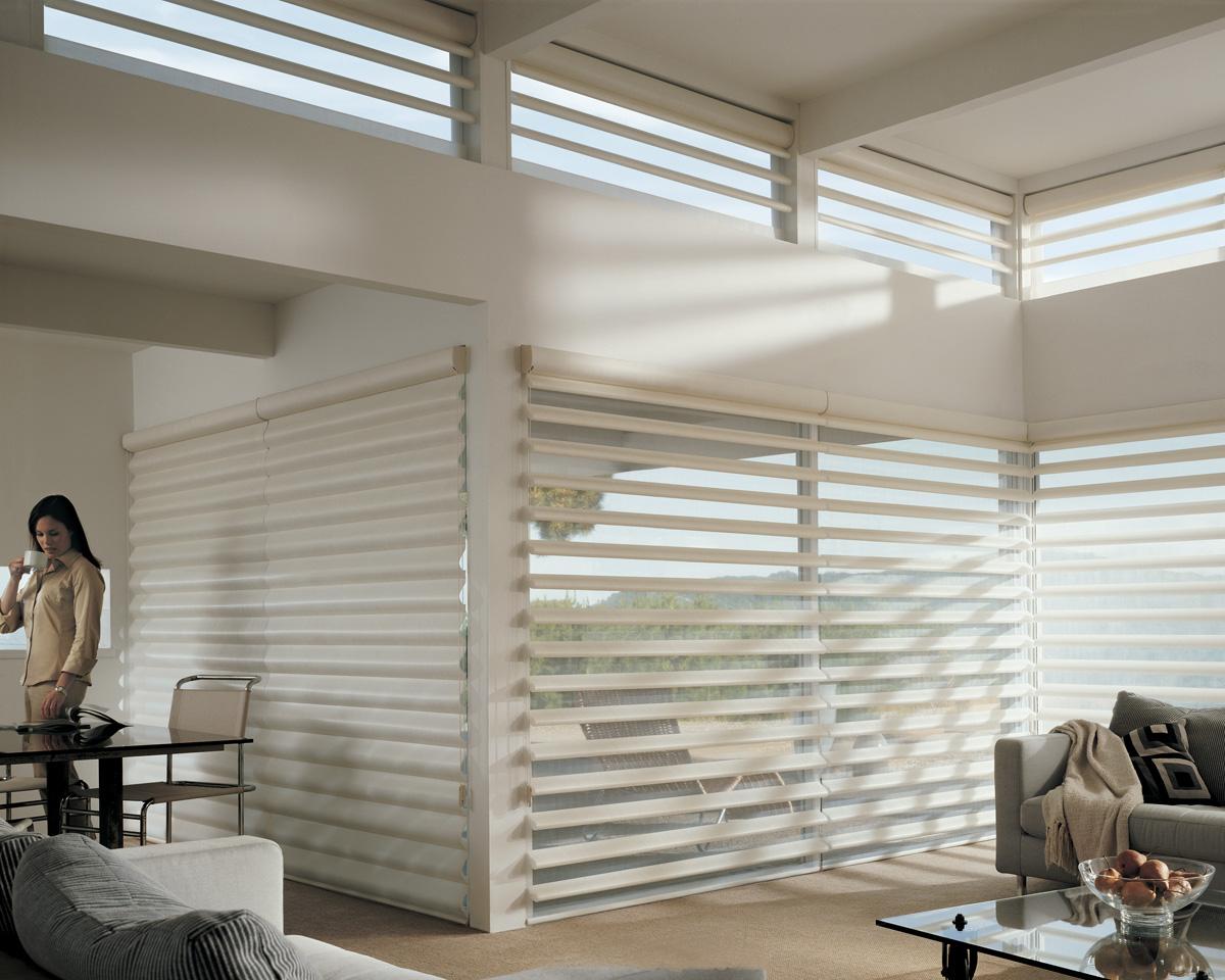 Affordable blinds and design lincoln nebraska for Hunter douglas motorized blinds reset